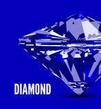 Diamond in front view. Vector illustration Stock Photography