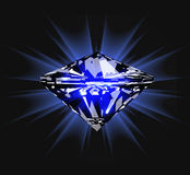 Diamond in front view. Vector illustration Royalty Free Stock Image