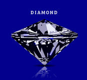 Diamond in front view. Vector illustration Stock Images