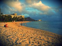 diamond głowy waikiki beach Zdjęcie Royalty Free