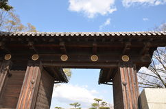 Diamond Gate Himmeji Castle. Diamond Gate the first of the castle`s 21 remaining gates of Himeji Castlle Royalty Free Stock Photo