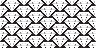 Diamond gem seamless pattern crystal jewelry isolated vector crystal background wallpaper. Diamond gem seamless pattern crystal jewelry isolated vector crystal stock illustration