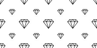 Diamond gem seamless pattern crystal jewelry isolated vector wallpaper background white. Diamond gem seamless pattern crystal jewelry isolated vector wallpaper vector illustration