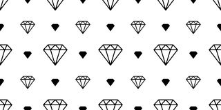 Diamond gem seamless pattern vector jewelry isolated space night wallpaper background white