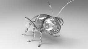 Diamond gem stone bug statuette. Isolated. Diamond gem stone bug statuette. Macro Royalty Free Stock Photos