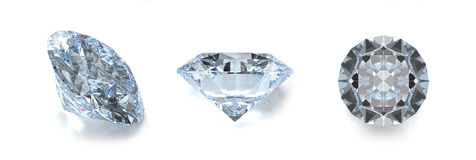 Diamond gems Stock Images