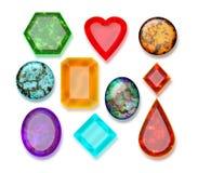 Diamond Gemstone Buttons Lizenzfreies Stockfoto