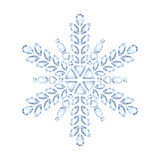 Diamond gemstone christmas shiny snowflake Stock Images