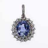 Diamond and Gemstone Pendant Stock Image