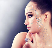 Diamond girl Royalty Free Stock Image