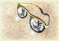 Diamond glasses Stock Images