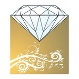 Diamond and gold Royalty Free Stock Image