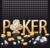 Diamond gold Poker background, vector Stock Image