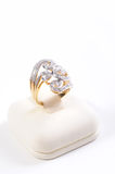 Diamond and gold ring Stock Photography