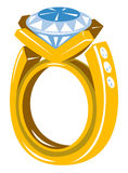 Diamond gold ring Stock Photography