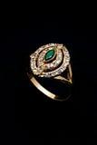 Diamond gold ring Stock Photos