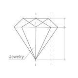 Diamond Graphic Scheme illustrazione di stock