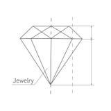 Diamond Graphic Scheme stock illustration