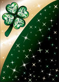 Diamond Green Clover Background Royalty Free Stock Images