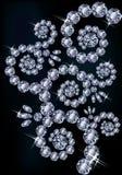 Diamond greeting floral card Royalty Free Stock Image