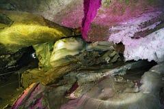 Diamond grotto in Kungur Ice Cave Royalty Free Stock Photos