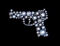 Diamond Gun Royalty Free Stock Photography