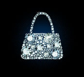 Diamond Handbag Stock Photography