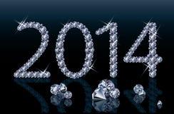 Diamond Happy New bandera de 2014 años Foto de archivo libre de regalías