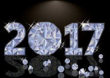 Diamond Happy New 2017 Year, vector. Illustration Stock Images