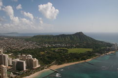 Diamond Head Aerial Vista Oahu Royalty Free Stock Photography