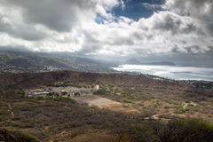 Diamond Head Crater Photos stock