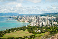 Diamond Head Crater Coast View Photos stock