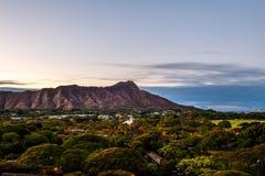 Diamond Head Crater en Oahua, Hawaii Imagen de archivo libre de regalías
