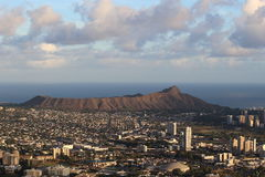 Diamond Head Crater and Honolulu view. Royalty Free Stock Photography