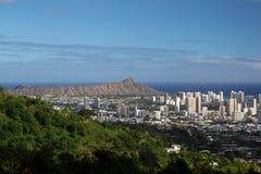 Diamond Head Crater, Oahu, Havaí Fotos de Stock Royalty Free