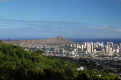 Diamond Head Crater Oahu, Hawaii Royaltyfria Foton