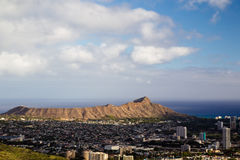 Diamond Head Crater Oahu, Hawaii Arkivbild