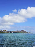 Diamond Head Crater and Waikiki in Honolulu Hawaii Stock Photos