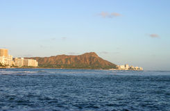 Diamond Head Crater in Waikiki, Honolulu, Hawaii Stock Photos