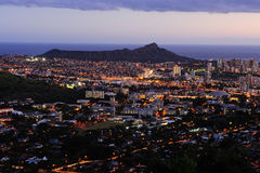 Diamond Head Early Evening Royalty Free Stock Photos