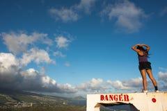 Diamond Head en Hawaii Fotos de archivo libres de regalías