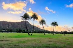 Diamond Head en la salida del sol, Oahu, Hawaii fotos de archivo libres de regalías