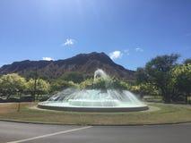 Diamond Head Fountain photographie stock