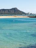 Diamond Head från Waikiki royaltyfri bild
