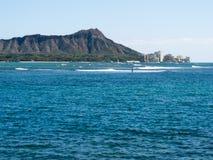Diamond Head från Waikiki royaltyfri fotografi