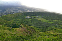 Diamond Head on Hawaii Stock Photo