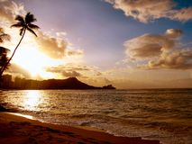 Diamond Head-Hawaii Royalty Free Stock Photo