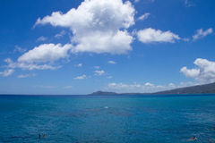 Diamond Head from Hawaii Kai Stock Photo