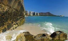 Diamond head Hawaii panoramic Royalty Free Stock Image