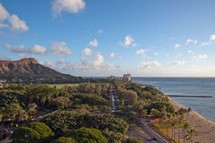 Diamond Head, in Honolulu, Hawaii Stock Images